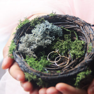 Rustic Bird Nest Ring Holder