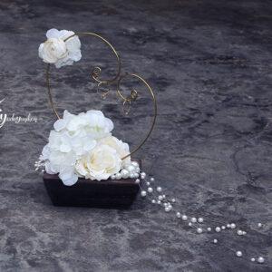 Beautiful in White Ring hanger