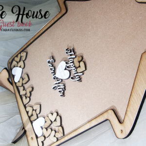 Happily Ever After House- Drop Top Guest book