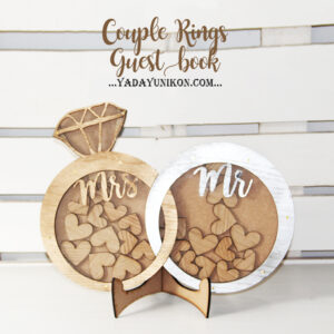 Couple rings- Gold&Silver- Drop Top Guest book