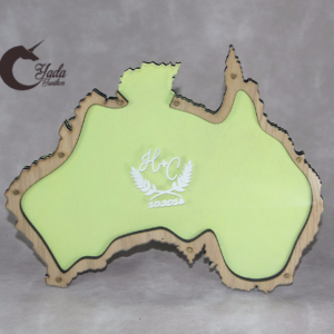 Green pastel Australia Map – Drop Top Guest book