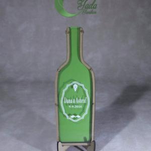 Green bottle-Green hearts – Drop Top Guest book