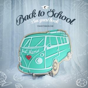 Mint Bus- Drop Top Guest book