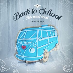 Blue Bus- Drop Top Guest book
