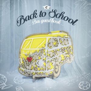 Yellow Bus- Drop Top Guest book