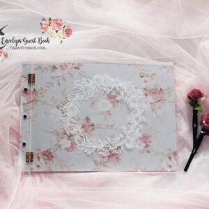 Pink envelope guest book