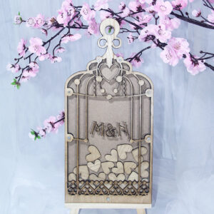 Wood Birdcage – Drop Top Guest book