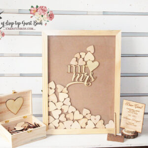 Set of Rectangle guest book -Drop Top Guest book