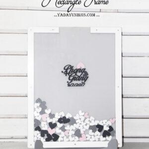 Gray Rectangle-White frame- Whit