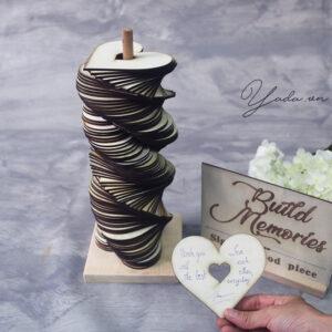 Heart Wedding Guest Book Tower