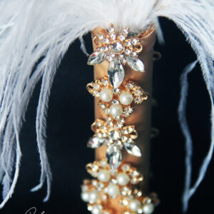 Ostrich feather fan