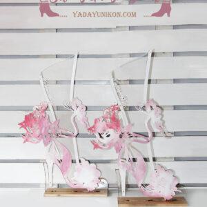 Pink highheel – Drop Top Guest book