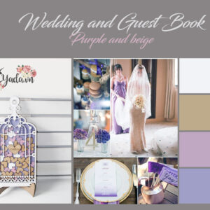Light Purple Birdcage- Purple+Pink Hearts – Drop Top Guest book