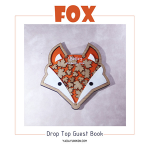 The fox- Drop Top Guest book