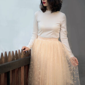 Cream Stars Skirt – Custom made tutu skirt