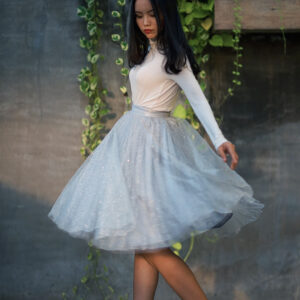 Silver skirt – Custom made tutu skirt