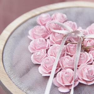 Pink Roses Embroidery Hoop