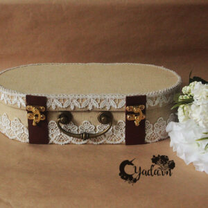 Burlap Suitcase – Wedding card suitcase