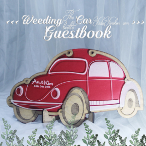 Red Car- Drop Top Guest book