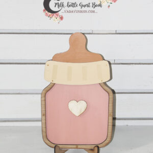 Peach milk bottle- Drop Top Guest book