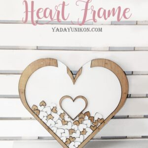 Navy Birdcage-Gold frame-Gold hearts – Drop Top Guest book