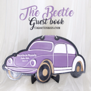 Purple Car- Drop Top Guest book