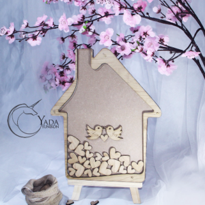 Wooden House- Drop Top Guest book