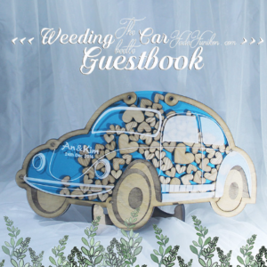 Blue Car- Drop Top Guest book