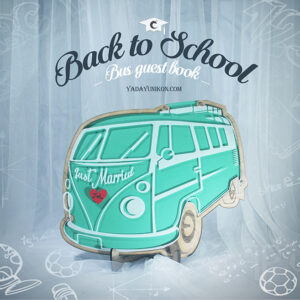 Mint Bus- Drop Top Guest book