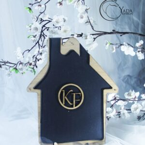 Black House-Wood hearts- Drop Top Guest book