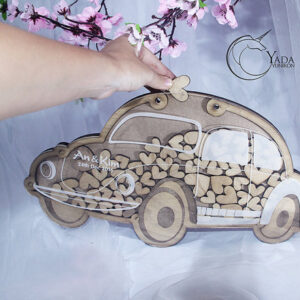 Wooden Car- Drop Top Guest book