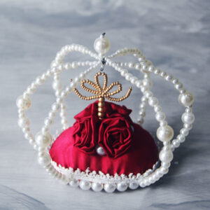 The crown – Ring Pillow – Red pillow