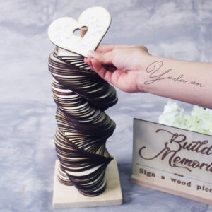 Heart Wedding Guest Book Tower