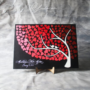 Tree 02 – Wedding guest book -3D guest book