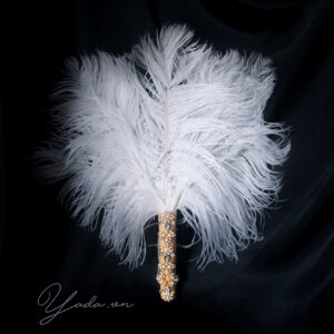 Ostrich feather fan