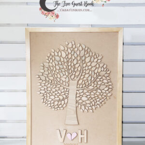 Tree 01 – Rustic wedding guest book -3D guest book