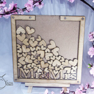 Wood Square-Drop Top Guest book