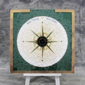 Emerald Compass – Clear hearts-Drop Top Guest book