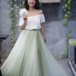 Green Pastel skirt – Custom made tutu skirt