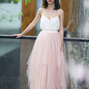 Multiple layers pink pastel skirt- Custom made tutu skirt