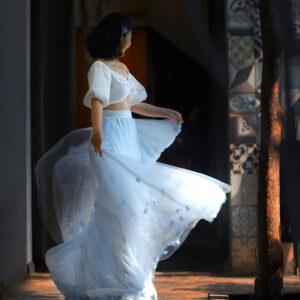 Hydrangea skirt – Custom made tutu skirt