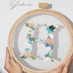 Floral Letter wedding